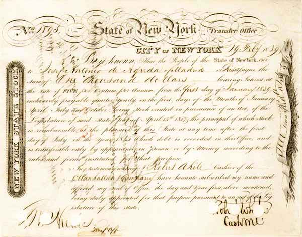 State of New York - Bond