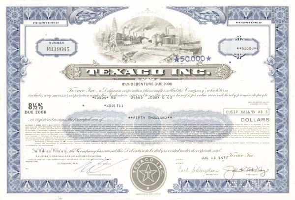 Texaco, Inc - Bond