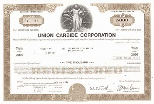 Union Carbide Corporation - Bond