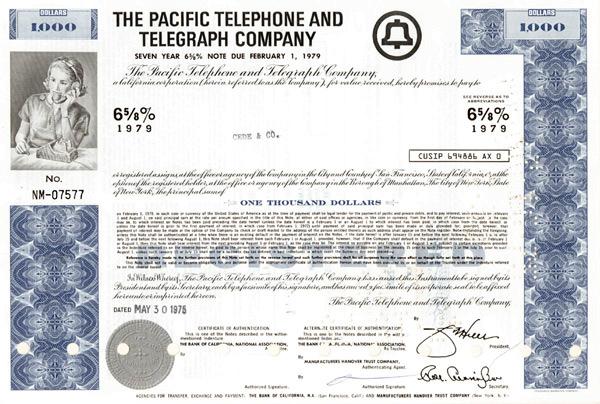 Pacific Telephone & Telegraph - Bond
