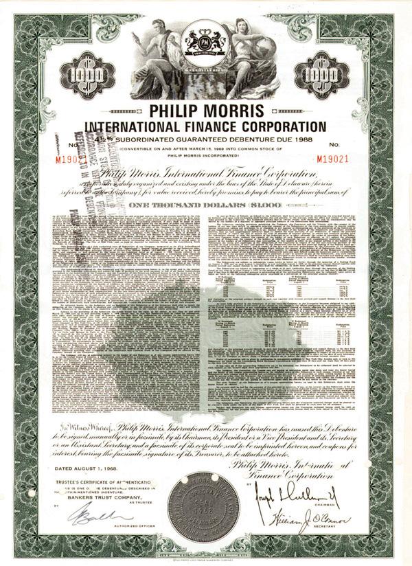 Philip Morris International Finance Corporation