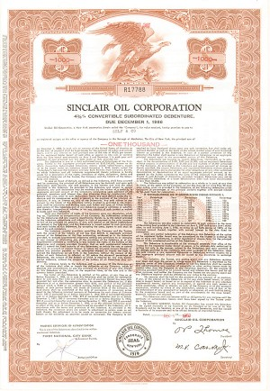 Sinclair Oil Corporation - Bond