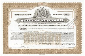 State of NY-Loan For The Construction of Buildings For State Institutions - Bond