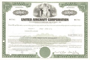 United Aircraft Corp - Bond