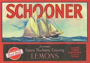 Fruit Crate Label - Schooner