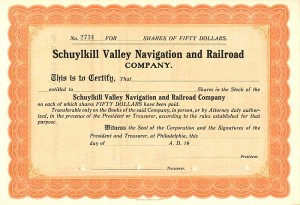 Schuylkill Valley Navigation and Railroad Company