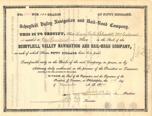 Schuylkill Valley Navigation and Rail-Road Company