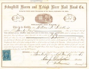 Schuylkill Haven and Lehigh River Rail Road Co.