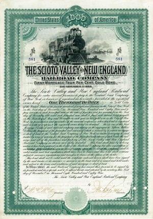 Scioto Valley & New England Railroad