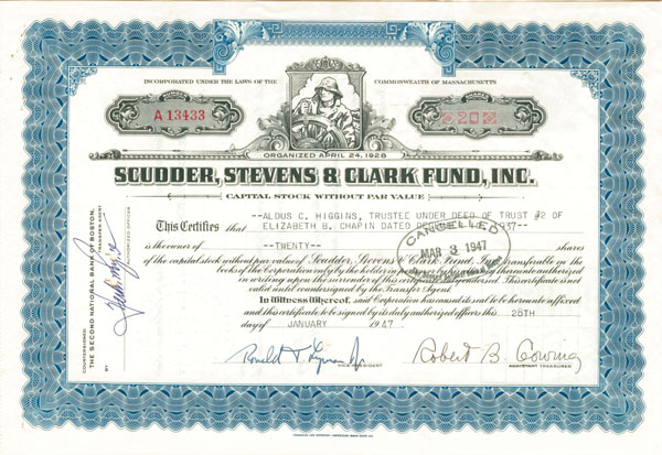 Scudder, Stevens & Clark Fund, Inc