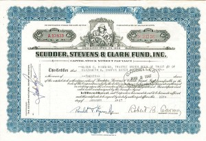 scudder stevens clark Lawton began his investment career at citibank, moved to scudder, stevens &  clark, and then to ingalls, where he continued a family legacy of his father, dana .
