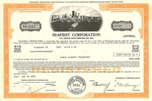 Seafirst Corporation - $100,000 Bond