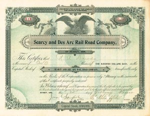Searcy & Des Arc Railroad of Searcy, AR - SOLD