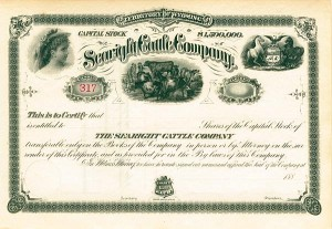 Searight Cattle Company - Stock Certificate