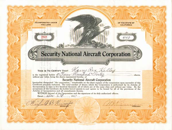 Security National Aircraft Corporation
