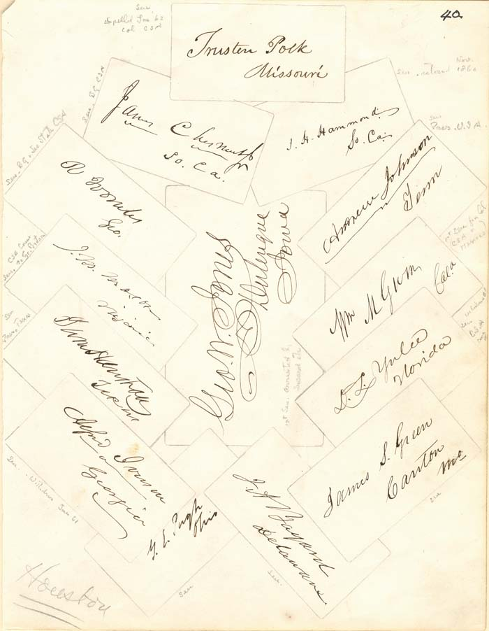 Autographs of Senators, etc. in 1859