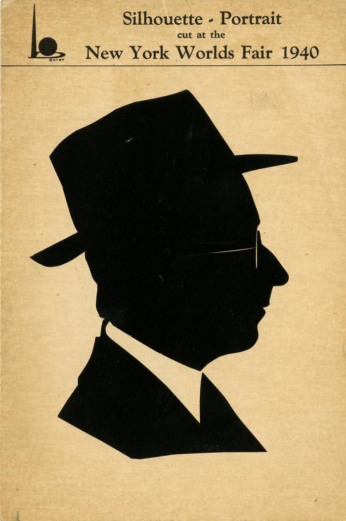 NY World's Fair Silhouette Portrait - SOLD