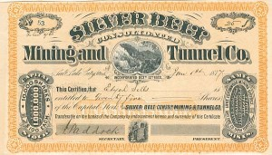 Silver Belt Consolidated Mining and Tunnel Co. - SOLD