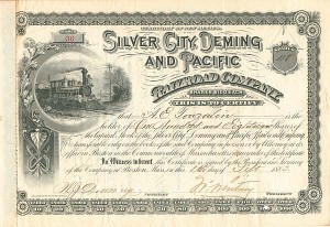 Silver City, Deming and Pacific Railroad Company - SOLD