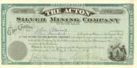 Silver Mining Company of Acton Maine - SOLD