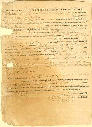 Slavery Document