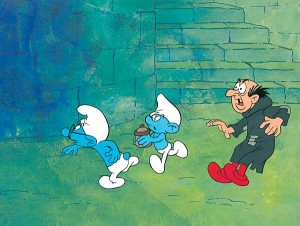 Brainy, Normal Smurf & Gargamel - SOLD