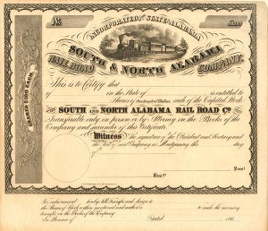 South & North Alabama Railroad Company - SOLD