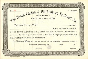 South Easton & Phillipsburg Railroad Co.