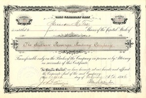 Southern Passenger Railway Company - SOLD