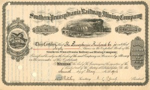 Southern Pennsylvania Railway Mining Company - SOLD
