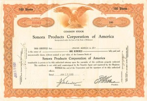 Sonora Products Corporation of America