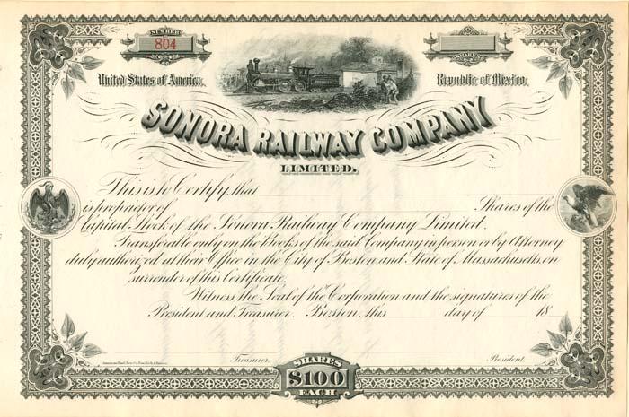 Sonora Railway Company Limited