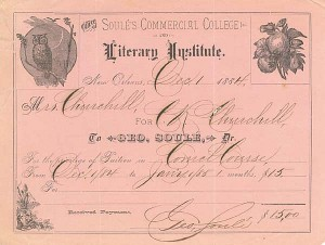 Soule's Commercial College and Literary Institute - SOLD