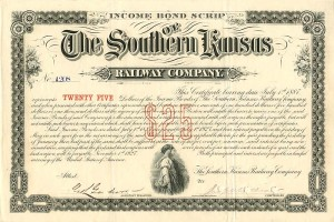 Income Bonds of the Southern Kansas Railway Company