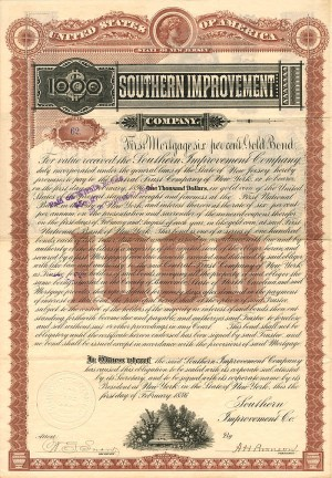 Southern Improvement Company - $1,000 - SOLD