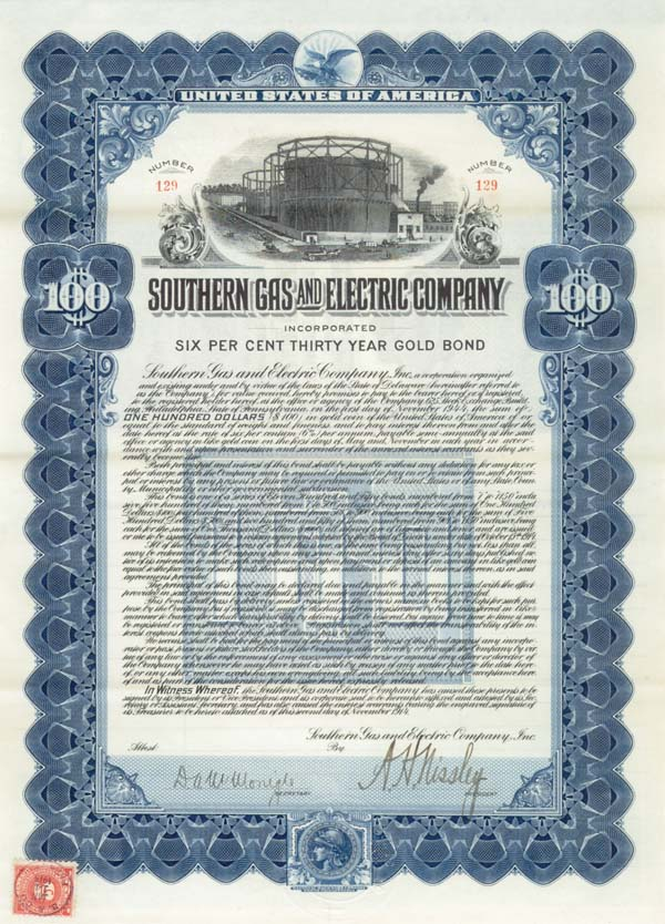Southern Gas & Electric - Bond