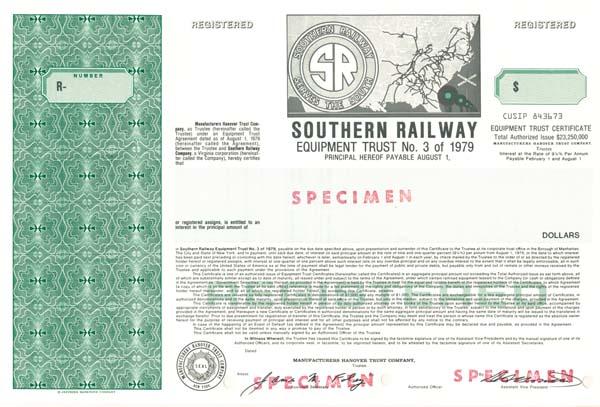 Southern Railway Equipment Trust - Bond