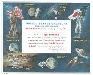Space Minute Man Savings Bond Promotional Certificate - U.S. Treasury