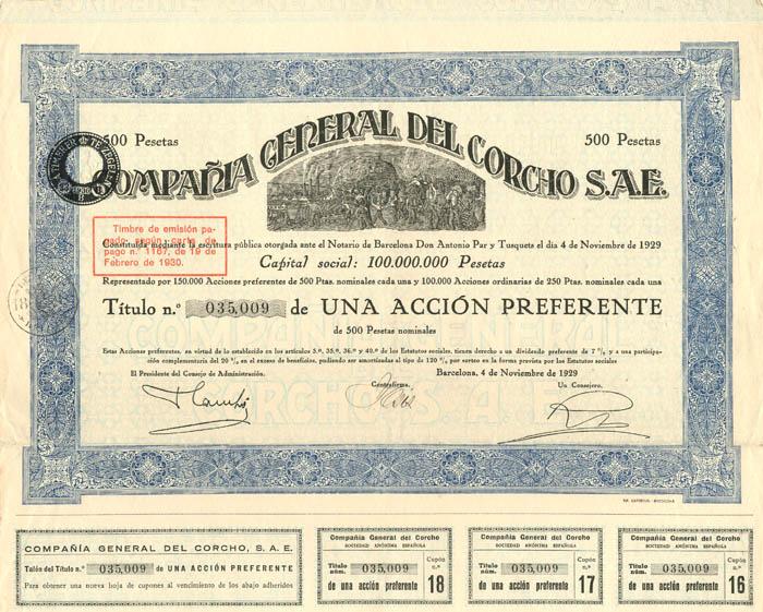 Compania General Del Corcho S.A.E.