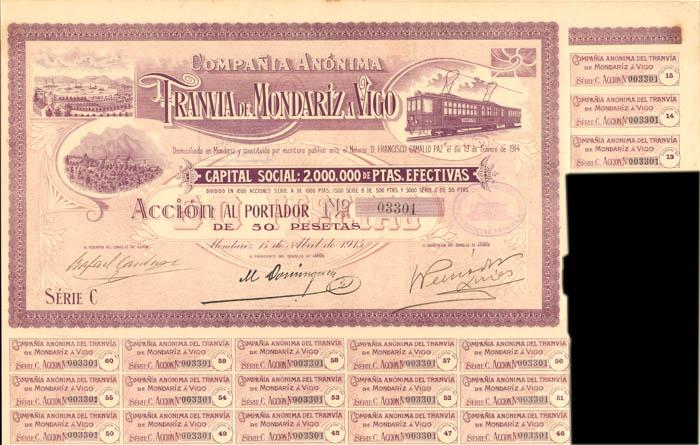 Compania Anonima Tranvia De Mondariz a Vigo