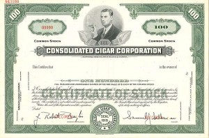 Consolidated Cigar Corporation - SOLD