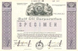 Gulf Oil Corporation - SOLD - WE DO HAVE OTHER GULF TYPE SPECIMENS
