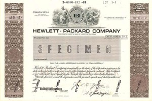 Hewlett-Packard Company - SOLD