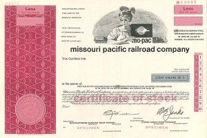 Missouri Pacific Railroad Company - SOLD