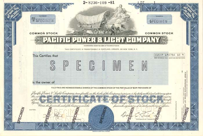 Pacific Power & Light Company