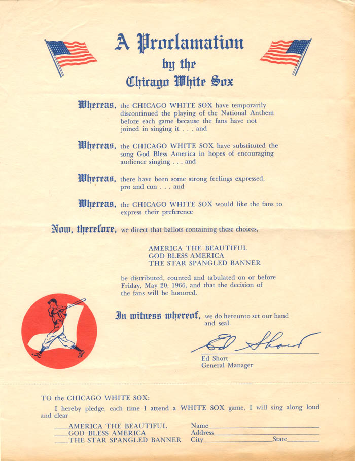 A Proclamation by the Chicago White Sox - SOLD