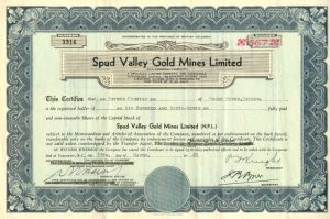 Spud Valley Gold Mines Limited
