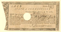 Connecticut Revolutionary War Document - SOLD