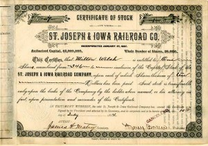 St. Joseph & Iowa Railroad Co.