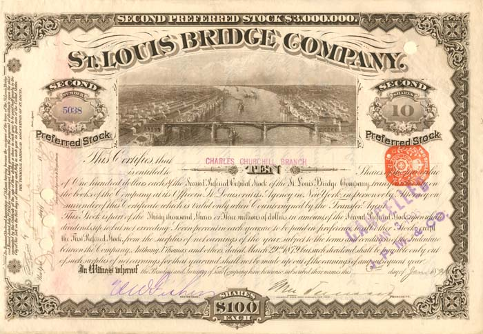 J. Pierpont Morgan Signs St. Louis Bridge Company